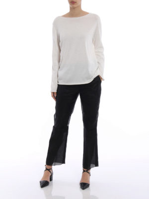 Max Mara: Tailored & Formal trousers online - Opale black organza trousers