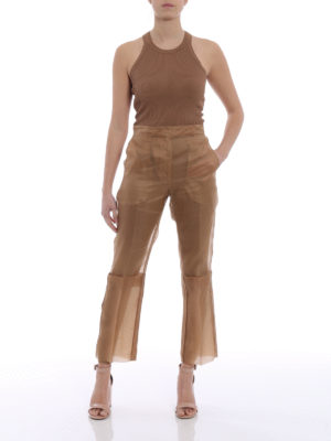 Max Mara: Tailored & Formal trousers online - Opale organza trousers
