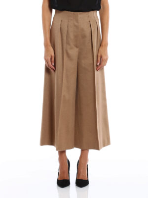 Max Mara: Tailored & Formal trousers online - Panetto camel culottes