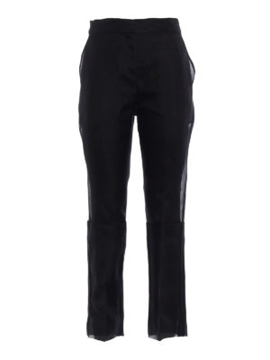 Max Mara: Tailored & Formal trousers - Opale black organza trousers