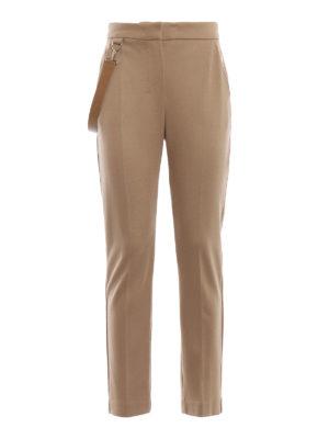 Max Mara: Pantaloni sartoriali - Pantaloni Piume in pura lana color cammello