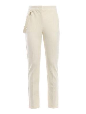 Max Mara: Pantaloni sartoriali - Pantaloni Piume in pura lana bianca
