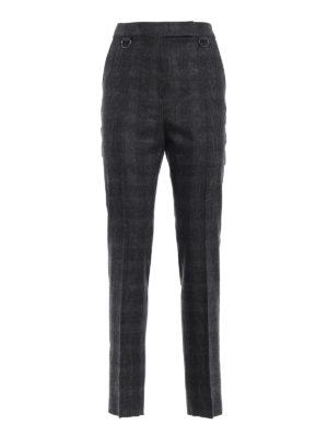 Max Mara: Pantaloni sartoriali - Pantaloni Zagara in flanella di lana a quadri