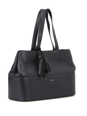 Max Mara: totes bags online - Shop5L dark blue leather tote