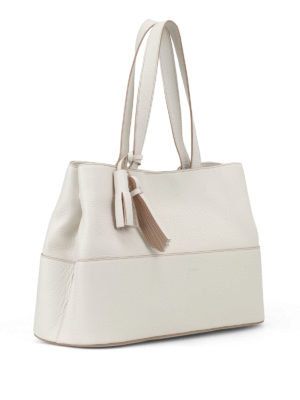 Max Mara: totes bags online - Shop5L white leather tote