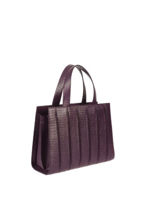 Max Mara: totes bags online - Whitney reptile print leather bag