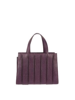 Max Mara: totes bags - Whitney reptile print leather bag