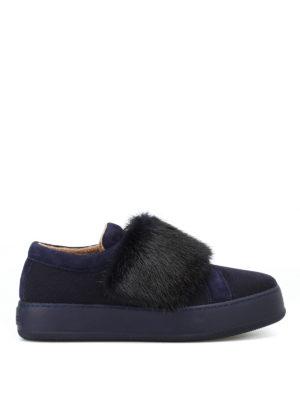 Max Mara: sneakers - Sneaker MM91 in cashmere e visone