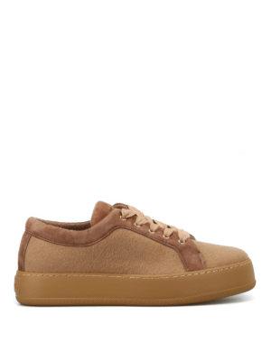 Max Mara: sneakers - Sneaker MM94 in cashmere cammello