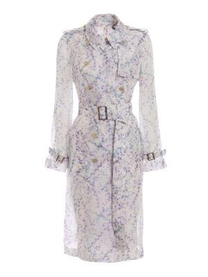 Max Mara: trench coats - Giro silk organza trench coat