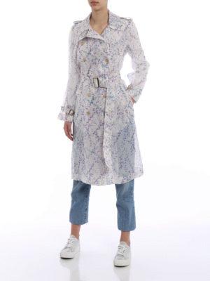 Max Mara: trench coats online - Giro silk organza trench coat