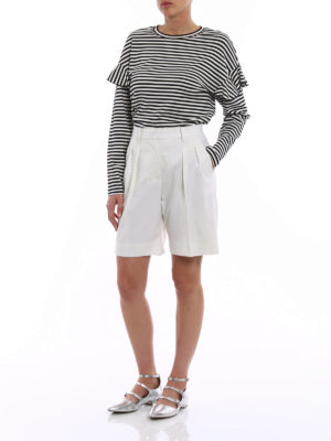 Max Mara: Trousers Shorts online - Gail wool blend shorts