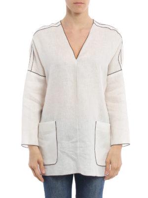 Max Mara: tunics online - Duero pure linen over tunic