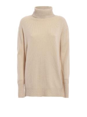 Max Mara: maglia a collo alto e polo - Dolcevita Dialogo over in lana e cashmere