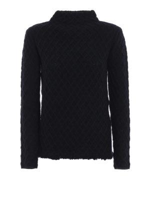 Max Mara: maglia a collo alto e polo - Pullover Tolosa in pura lana con frangette