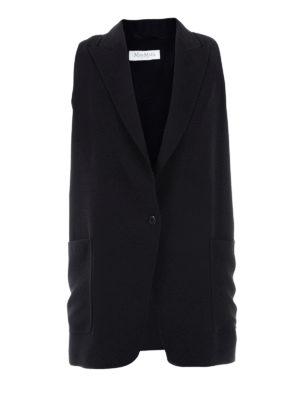 Max Mara: waistcoats & gilets - Galvano cady long waistcoat