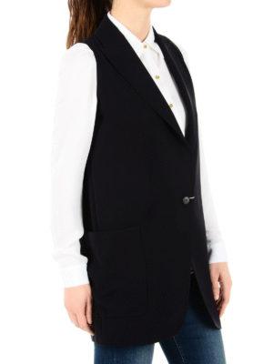 Max Mara: waistcoats & gilets online - Galvano cady long waistcoat