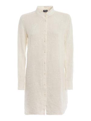 MC2 SAINT BARTH: cover-ups - Clemance white linen beach robe
