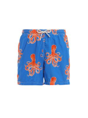 MC2 SAINT BARTH: Bañadores y boxer de baño - Lighting-Happy Octopus - Azul