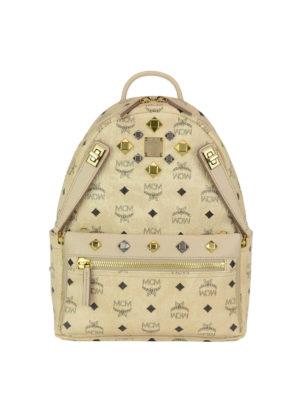 Mcm: backpacks - Dual Stark beige small backpack