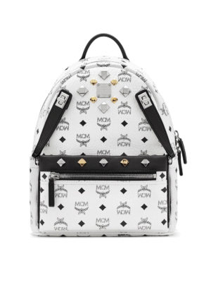 Mcm: backpacks - Dual Stark white small backpack
