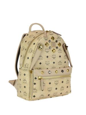 Mcm: backpacks online - Dual Stark beige small backpack