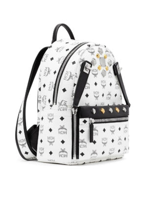 Mcm: backpacks online - Dual Stark white small backpack