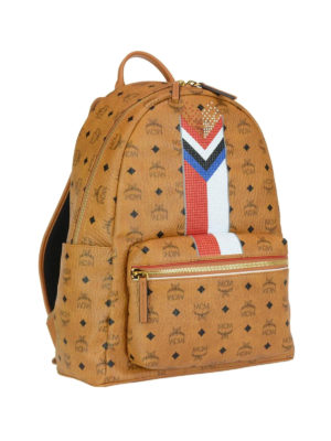 Mcm: backpacks online - Stark M Chevron stripe backpack