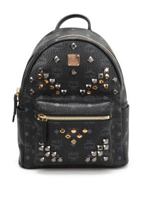 Mcm: backpacks - Small Stark studded backpack