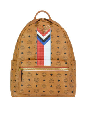 Mcm: backpacks - Stark M Chevron stripe backpack