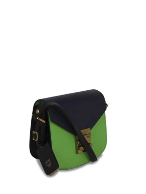 Mcm: cross body bags online - Patrizia two-tone leather crossbody