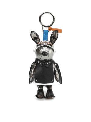 Mcm: key holders - Mink and Swarovski rabbit charm