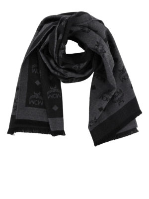MCM: sciarpe e foulard - Sciarpa in lana jacquard Monogram