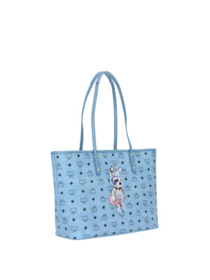 Mcm: totes bags online - Rabbit logo detailed shopping bag