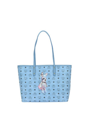 Mcm: totes bags - Rabbit logo detailed shopping bag