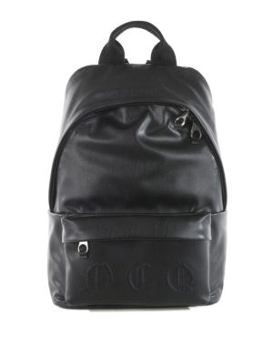 Mcq: backpacks - Embossed gothic logo backpack