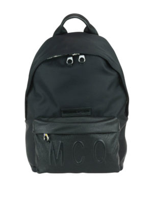 Mcq: backpacks - Embossed logo backpack
