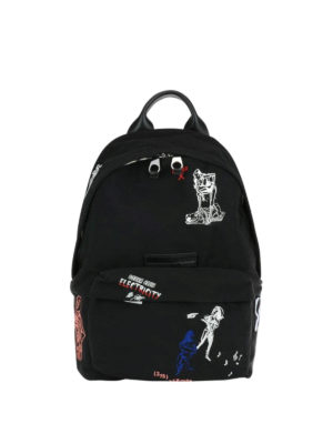 Mcq: backpacks - Embroidered nylon backpack
