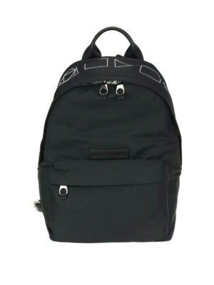 Mcq: backpacks - Geometric logo print backpack
