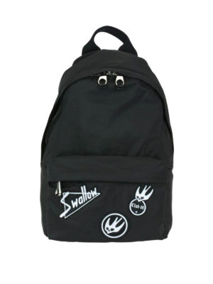 Mcq: backpacks - Nylon backpack with Swallow patches