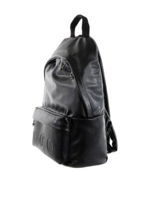 Mcq: backpacks online - Embossed gothic logo backpack
