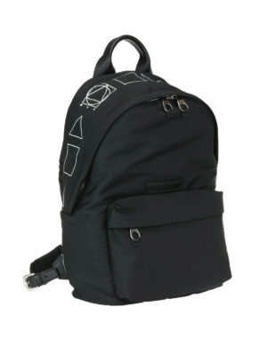 Mcq: backpacks online - Geometric logo print backpack