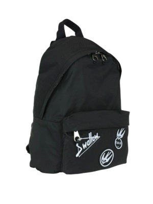 Mcq: backpacks online - Nylon backpack with Swallow patches