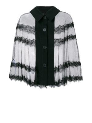 MCQ: bluse - Blusa cappa in tulle trasparente