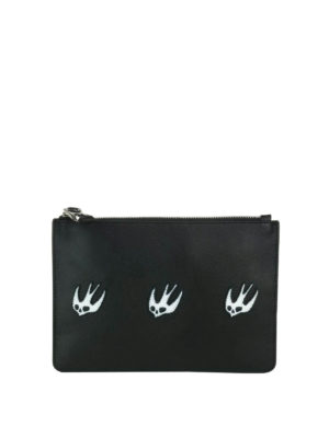 Mcq: Cases & Covers - Leather pouch with Swallow patches