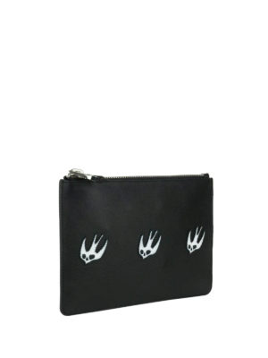 Mcq: Cases & Covers online - Leather pouch with Swallow patches