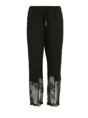 MCQ: pantaloni casual - Pantaloni della tuta pizzo in fondo
