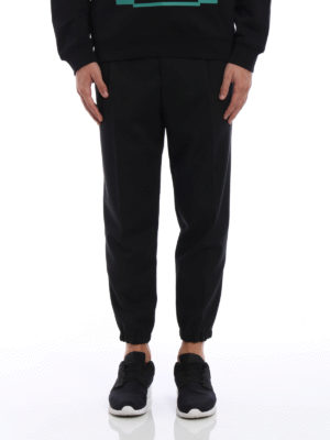 Mcq: casual trousers online - Cool wool track trousers