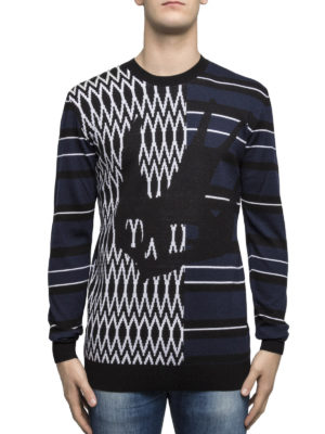 Mcq: crew necks online - Swallow intarsia wool sweater
