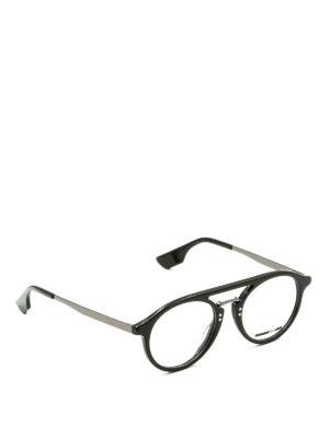 Mcq: glasses - Acetate and metal round eyeglasses